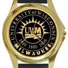 University of Wisconsin Milwaukee Gold Metal Watch