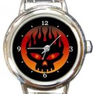 The Offspring Band Logo Round Italian Charm Watch