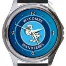 Wycombe Wanderers FC Round Metal Watch