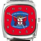 Carlisle United FC Square Metal Watch