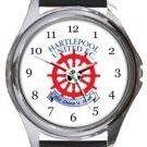 Hartlepool United FC Round Metal Watch