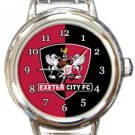 Exeter City FC Round Italian Charm Watch