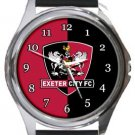Exeter City FC Round Metal Watch