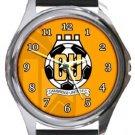 Cambridge United FC Round Metal Watch