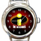 The Incredibles Logo Round Italian Charm Watch