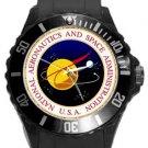 National Aeronautics and Space Administration NASA Plastic Sport Watch In Black