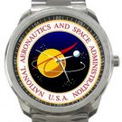 National Aeronautics and Space Administration NASA Sport Metal Watch