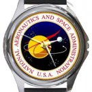 National Aeronautics and Space Administration NASA Round Metal Watch