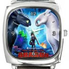 How To Train Your Dragon Hidden World Square Metal Watch