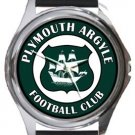 Plymouth Argyle Football Club Round Metal Watch