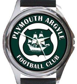 Plymouth Argyle Football Club Round Metal Watch