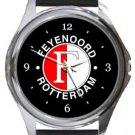 Feyenoord Rotterdam FC Round Metal Watch