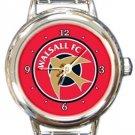 Walsall FC Round Italian Charm Watch