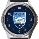 Sydney FC Round Metal Watch