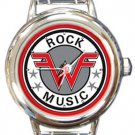 Weezer Rock Music Round Italian Charm Watch