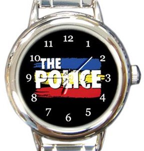 The Police Round Italian Charm Watch