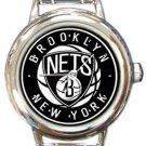 Brooklyn Nets Round Italian Charm Watch