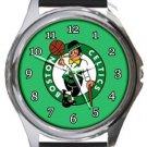 The Boston Celtics Round Metal Watch