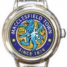 Macclesfield Town FC Round Italian Charm Watch