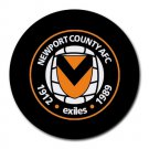Newport County AFC Heat-Resistant Round Mousepad