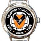Newport County AFC Round Italian Charm Watch