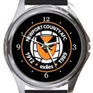 Newport County AFC Round Metal Watch