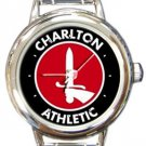 Charlton Athletic FC Round Italian Charm Watch