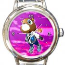 Kanye West Dropout Bear Round Italian Charm Watch