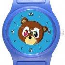 Cute Kanye West Bear Blue Plastic Watch