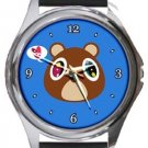 Funny Kanye West Bear Round Metal Watch