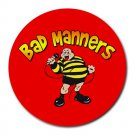 Bad Manners Heat-Resistant Round Mousepad