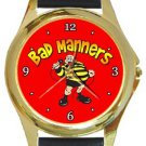 Bad Manners Gold Metal Watch