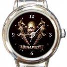 Megadeth Round Italian Charm Watch