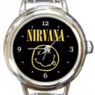 Nirvana Round Italian Charm Watch
