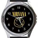 Nirvana Round Metal Watch