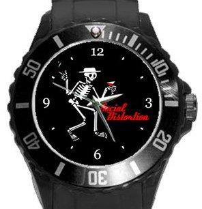 Social Distortion Plastic Sport Watch In Black