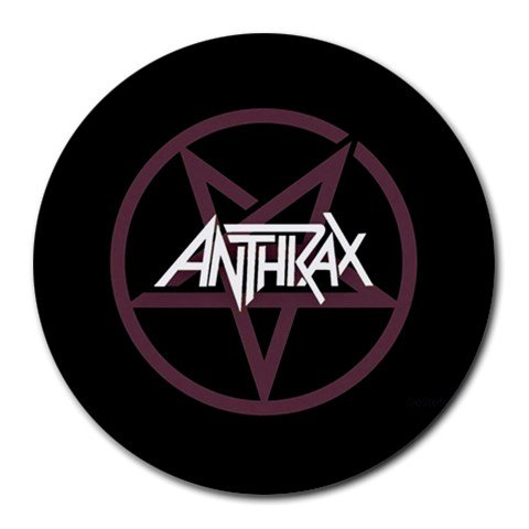 Anthrax Heat-Resistant Round Mousepad