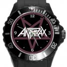 Anthrax Plastic Sport Watch In Black