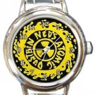 Ned's Atomic Dustbin Round Italian Charm Watch