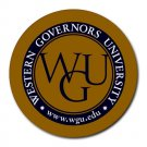 Western Governors University Heat-Resistant Round Mousepad