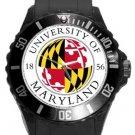 University of Maryland Plastic Sport Watch In Black