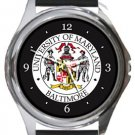 University of Maryland Baltimore Round Metal Watch