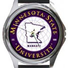 Minnesota State University Round Metal Watch