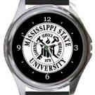 Mississippi State University Round Metal Watch