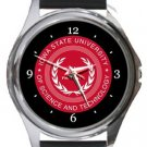 Iowa State University of Science and Technology Round Metal Watch
