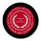 Iowa State University of Science and Technology Heat-Resistant Round Mousepad