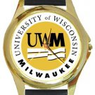 University of Wisconsin Milwaukee Gold Metal Watch