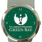 University of Wisconsin Green Bay Money Clip Watch