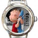 Super Cute Linus Snoopy Peanuts Round Italian Charm Watch