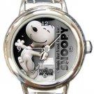Super Cute Snoopy Round Italian Charm Watch